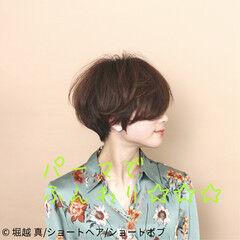 ショート ナチュラル ショートヘア マッシュショート ヘアスタイルや髪型の写真・画像