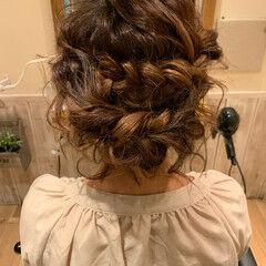ガーリー ハイライト セミロング 振袖ヘア ヘアスタイルや髪型の写真・画像