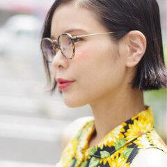 リップライン 大人女子 ガーリー ショート ヘアスタイルや髪型の写真・画像
