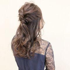 結婚式アレンジ 結婚式髪型 結婚式 ハーフアップ ヘアスタイルや髪型の写真・画像