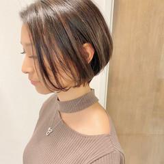 ショートヘア オフィス ナチュラル 大人かわいい ヘアスタイルや髪型の写真・画像