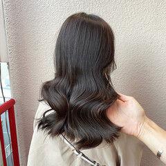 韓国ヘア ヨシンモリ エレガント アッシュグレー ヘアスタイルや髪型の写真・画像