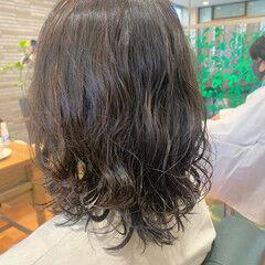 ゆるふわパーマ ナチュラル ボブ 毛先パーマ ヘアスタイルや髪型の写真・画像
