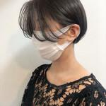 ショート 透明感カラー ミニボブ ショートヘア
