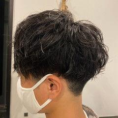 黒髪 無造作パーマ ストリート ショート ヘアスタイルや髪型の写真・画像