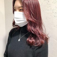 カシスレッド チェリーレッド 赤髪 韓国ヘア ヘアスタイルや髪型の写真・画像