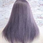 セミロング エレガント 艶髪 グラデーションカラー