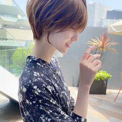 ショートヘア ひし形シルエット ショート 大人可愛い ヘアスタイルや髪型の写真・画像