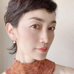 色気 秋冬ショート ショート ウルフカット ヘアスタイルや髪型の写真・画像