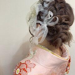 袴 ロング ヘアアレンジ ヘアセット ヘアスタイルや髪型の写真・画像