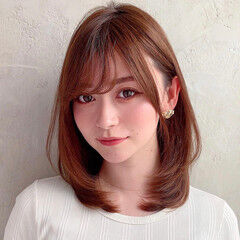 モテ髪 ナチュラル 小顔ヘア 小顔 ヘアスタイルや髪型の写真・画像