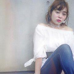 モテボブ フェミニン 簡単ヘアアレンジ ボブ ヘアスタイルや髪型の写真・画像