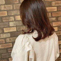 スロウ 大人ミディアム ミディアム イルミナカラー ヘアスタイルや髪型の写真・画像