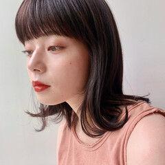鎖骨ミディアム ナチュラル ナチュラルベージュ ブラウンベージュ ヘアスタイルや髪型の写真・画像