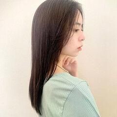 ナチュラル ロング サイエンスアクア 大人ロング ヘアスタイルや髪型の写真・画像