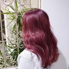 セミロング ツヤ髪 ブリーチカラー エレガント ヘアスタイルや髪型の写真・画像