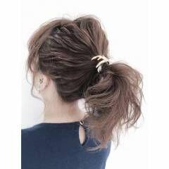 アップスタイル ヘアアレンジ ガーリー ヘアスタイルや髪型の写真・画像