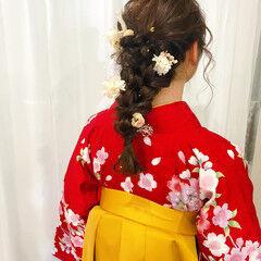 ヘアセット フェミニン 袴 ヘアアレンジ ヘアスタイルや髪型の写真・画像