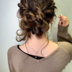 ヘアセット 簡単ヘアアレンジ ナチュラル シニヨン ヘアスタイルや髪型の写真・画像