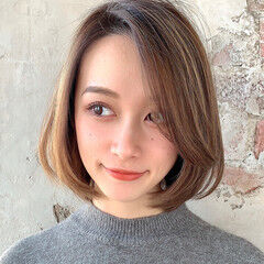 ひし形シルエット エレガント 小顔ヘア ボブ ヘアスタイルや髪型の写真・画像