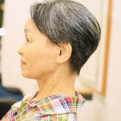 ベリーショート ショート 毛束感 小顔ショート ヘアスタイルや髪型の写真・画像