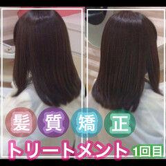髪質改善カラー 髪質改善 うる艶カラー 髪質改善トリートメント ヘアスタイルや髪型の写真・画像