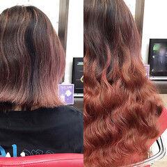 コテ巻き ガーリー ウェーブ エクステ ヘアスタイルや髪型の写真・画像