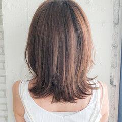 大人かわいい ミルクティーブラウン アッシュグレージュ 前髪 ヘアスタイルや髪型の写真・画像