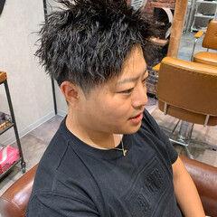 パーマ ツイスト ショート ストリート ヘアスタイルや髪型の写真・画像