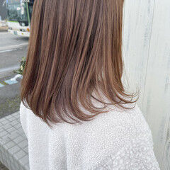 ミルクティーブラウン ミルクグレージュ ミルクティーベージュ ミルクティー ヘアスタイルや髪型の写真・画像