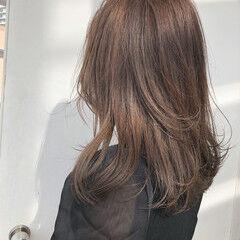 地毛ハイライト 大人ハイライト 透明感 色気 ヘアスタイルや髪型の写真・画像