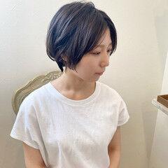 グレーアッシュ ハンサムショート ショートヘア ショート ヘアスタイルや髪型の写真・画像