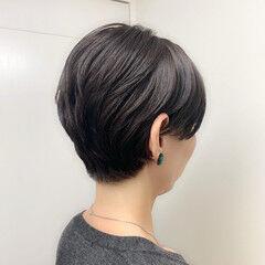 丸みショート ショート ナチュラル ヘルシー ヘアスタイルや髪型の写真・画像