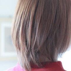 アメジスト パープル ミディアム ブルー ヘアスタイルや髪型の写真・画像