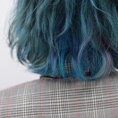 インナーカラー ハイトーン ブリーチ カラートリートメント ヘアスタイルや髪型の写真・画像