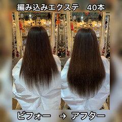 編み込み ロング 大人ロング 360度どこからみても綺麗なロングヘア ヘアスタイルや髪型の写真・画像