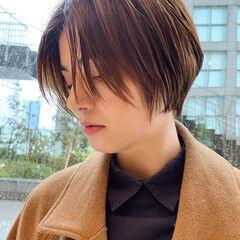 グラボブ ショートボブ ボブ ナチュラル ヘアスタイルや髪型の写真・画像