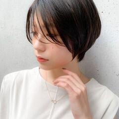 ひし形 ナチュラル 大人かわいい ショート ヘアスタイルや髪型の写真・画像