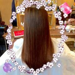 トリートメント 艶髪 ストレート ロング ヘアスタイルや髪型の写真・画像