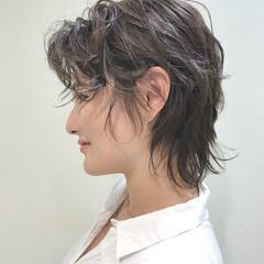 ショート ウルフ女子 アンニュイほつれヘア ウルフカット ヘアスタイルや髪型の写真・画像