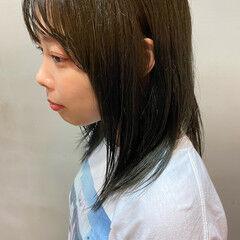オリーブブラウン オリーブアッシュ オリーブグレージュ オリーブベージュ ヘアスタイルや髪型の写真・画像