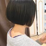 インナーカラー ナチュラル ボブ ショートヘア