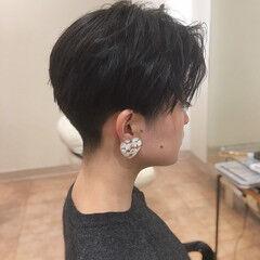 ツーブロック ベリーショート クール エレガント ヘアスタイルや髪型の写真・画像