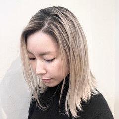 ユニコーンカラー 切りっぱなしボブ インナーカラー グラデーションカラー ヘアスタイルや髪型の写真・画像