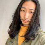 メンズカット ナチュラル 黒髪 メンズヘア