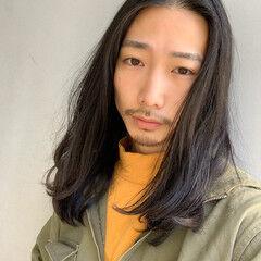 メンズカット ナチュラル 黒髪 メンズヘア ヘアスタイルや髪型の写真・画像