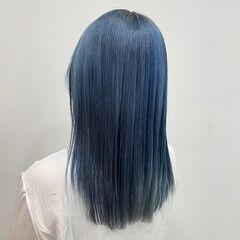 ストリート 韓国 ハイトーン ブリーチ ヘアスタイルや髪型の写真・画像
