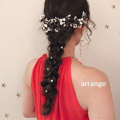 結婚式アレンジ 大人かわいい 結婚式ヘアアレンジ ヘアアレンジ ヘアスタイルや髪型の写真・画像