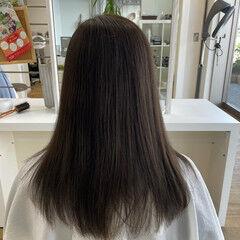 ヘアアレンジ セミロング ローポニー 透明感カラー ヘアスタイルや髪型の写真・画像