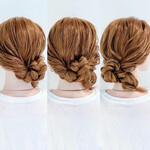 まとめ髪 ヘアアレンジ ダウンスタイル フェミニン